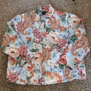 Allison Daley Women's Size XL Light Zip Up Jacket